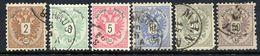 AUSTRIA 1883 Arms Set Of 6 Fine Used.  Michel 44-49 - 1850-1918 Empire