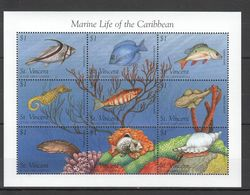 K312 ST.VINCENT MARINE LIFE TROPICAL FISH OF THE CARIBBEAN 1KB MNH - Marine Life