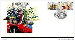 LOTTO 3  FDC AUSTRALIAN FORMULA 1 GRAND PRIX ADELAIDE 1986 NEW CIRCUITO TUORING CAR TEMATICA CARS RACERS - Primo Giorno D'emissione (FDC)