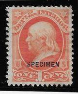 Etats Unis Service N°36 - Spécimen - Neuf Sans Gomme - TB - United States
