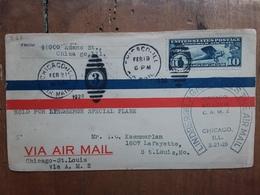 STATI UNITI - Aerogramma Volato Con Linderbergh A St. Louis - Annullo Arrivo + Spedizione Prioritaria - Air Mail