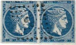 1A 236 Greece Large Hermes Head 1871-1872 20 Lepta Hellas 35c Blue - 1861-86 Large Hermes Heads