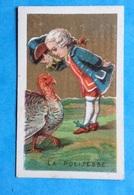 Dijon Pain D ' épices Dionne Jolie Petite Chromo Dorée Leçon Politesse Pintade 4 Cm X 6,7 Cm - Trade Cards