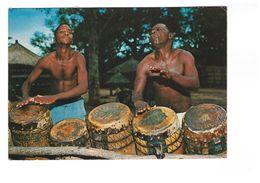 Kénya Traditional Drummers Drummer Tambour Musicien Afrique Folklore + Timbre 2 Timbres Correspondance 1977 - Kenya