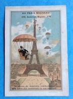 Rare Paris Nouveau Magenta Chromo Sicard Tour Eiffel Aérostat Parachute Chaise Osier Descente - Autres
