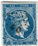 1A 786 Greece Large Hermes Head  1862-1867 20 Lepta  Hellas 19a Sky- Blue - 1861-86 Large Hermes Heads