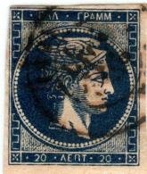 1A 789 Greece Large Hermes Head 1875-1880  20 Lepta   Hellas 51c - Oblitérés