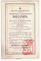 DP Voorzitter & Schepen - Joannes J. Roelandts ° Meulebeke 1781 † 1864 X Coleta Carpentier - Devotieprenten