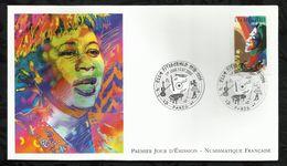 ETOILE DU JAZZ . ELLA FITZGERALD .13 JUILLET 2002 . PARIS . - FDC
