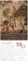 Albania 1990 Postcard Mosaic - Achilles & Pentesilene, Tirana To U.S., Scott 1930 - Albania