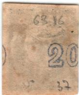 "1A 1228 Greece L. Hermes H. 1875-1880 20 Lep ""DISPLACED CF"" Hellas 51 - Gebraucht"