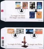 Belgie Belgique  2010 OCBn° FDC 4069-4078 (o) Oblitéré  Cote 16,00 Euro  Magie Van Folon - 2001-10