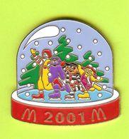 Pin's Mac Do McDonald's Ronald Grosse Douceur Pique Burger Petite Oiseau Patins 2001 (Sous Globe) - 4Y29 - McDonald's