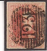 P123 VERVIERS -NR.12-DUIDELIJKE CENTRALE AFSTEMPELING - 1858-1862 Medallions (9/12)