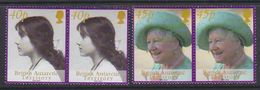 British Antarctic Territory 2002 Queen Mother 2v (pair) ** Mnh (37729) - Brits Antarctisch Territorium  (BAT)