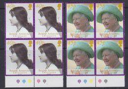 British Antarctic Territory 2002 Queen Mother 2v Bl Of 4  ** Mnh (37729A) - Brits Antarctisch Territorium  (BAT)