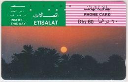 223/ UAE; P55. Palm Trees At Sunset, Tamura - United Arab Emirates