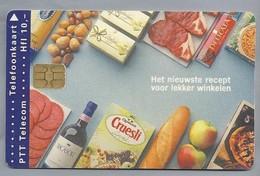 NL.- Telefoonkaart. PTT Telecom. 10 Gulden. Albert Heijn. Het Nieuwste Recept Voor Lekker Winkelen. A810 - Levensmiddelen