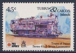 Turks & Caicos Islands 1991 Mi 1029 ** Series 4110 Steam Locomotive - Japan (1913) - Phila Nippon '91 - Trains