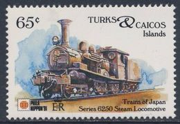 Turks & Caicos Islands 1991 Mi 1031 ** Series 6250 Steam Locomotive - Japan (1915) - Phila Nippon '91 - Trains