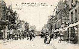 CPA - MONTREUIL (93) - Aspect De La Rue De Paris à La Hauteur De La Place Du Marché Dans Les Années 20 - Montreuil