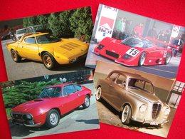 4 CARTOLINE LANCIA STRATOS,LC2,FULVIA ZAGATO,APPIA - Passenger Cars