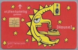 NL.- Telefoonkaart. PTT Telecom. Vijfentwintig Gulden. House. WAT VOOR DOORGEDRAAIDE DAAP NART DAAR IN HET ROND. A414 - Stripverhalen