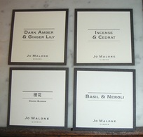 Lot 4 Cartes Jo Malone - Perfume Cards