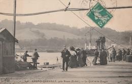 76 - LE GRAND QUEVILLY - Le Quai Et La Drague - Le Grand-Quevilly