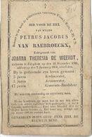 MA7/ ° EDEGEM 1785 + 1853 PETRUS VAN RAEBROECKX GEMEENTERAADSLID.. - Religion & Esotérisme