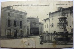 PLACE ET MONUMENT RACLET - ROMANÈCHE THORINS - France