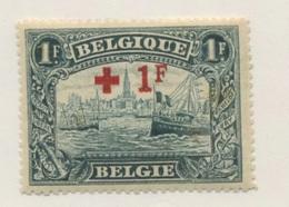 160 *    1F Croix Rouge 1918 Avec Rouille  Port D'Anvers Bateaux  Cote 54,-E - Belgien