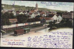 CPA Suisse Gruss Aus Küsnacht Zurich Wagon Train - ZH Zurich