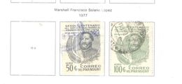 Paraguay Po+PA 1977 Solano   Scott.1753+1754 Used See Scans On Scott.Pages - Paraguay