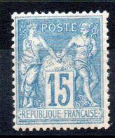 FRANCE - YT N° 90 - Neuf ** - MNH - Cote 90,00 € - 1876-1898 Sage (Type II)