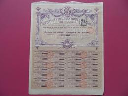 ACTION DE LA SOCIETE GENERALE DES POMPES FUNEBRES DE FRANCE  ST ETIENNE 1899 - Aandelen