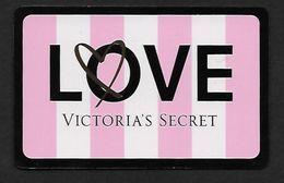 F-   Gift Card Victoria's Secret Pour Love - Perfume Card - USA - Perfume Cards