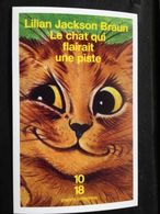 Carte Publicitaire Livre Librairie 10 / 18 Lilian Jackson Braun Le Chat Qui Flairait Une Piste - Werbepostkarten