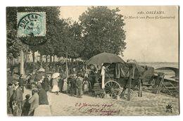 CPA 45 Loiret Orléans Le Marché Aux Puces - Orleans