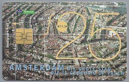 NL.- Telefoonkaart. PTT Telecom. 25 Gulden. AMSTERDAM Die Grote Stad Die Is Gebouwd Op Palen. Kalverstraat A402 - Reclame