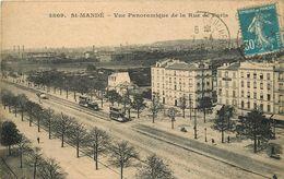 SAINT MANDE - Vue Panoramique De La Rue De Paris. - Saint Mande