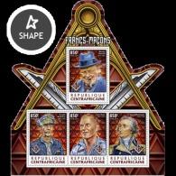 Central Africa 2017 Freemasons Odd Shape - Centrafricaine (République)