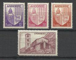 LOT De 4 Timbres D' ANDORRE FRANCAIS , ** ,  N° YT : 93 , 94 , 96 & 100 , Voir Scan - Andorre Français