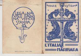 Tessera Mare Nostrum L'italia Marinara Lega Navale Ufficio Stampa 1943 - Historical Documents