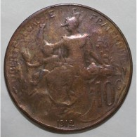 GADOURY 277 - 10 CENTIMES 1912 TYPE DUPUIS - TB - KM 843 - France