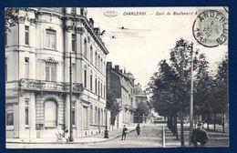 Charleroi. Coin Du Boulevard Audent. Passants Et Gendarme. 1912 - Charleroi
