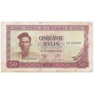 GUINEE - PICK 25 - 50 SYLIS - 1980 - TB - Guinea