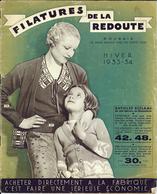 """CATALOGUE """"FILATURES DE LA REDOUTE"""" COLLECTION AUTOMNE HIVER 1933-1934 - Publicités"""