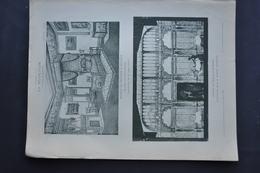 LA DECORATION ANCIENNE ET MODERNE D' INTERIEURS  DE CHAMBRE A COUCHER Et D' UNE SALLE A MANGER - Vieux Papiers