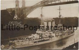 Foto AK SMS Elsass Im Kaiser Wilhelm Kanal Unter Der Grünentaler Hochbrücke Ca. 1915 Linienschiff Kaiserliche Marine - Guerre 1914-18